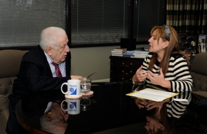 Cecilia Yepez during the interview with                Dr. John E. Haggai