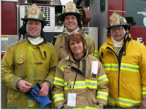 Shelly, the first female on the Wauwatosa Fire Department
