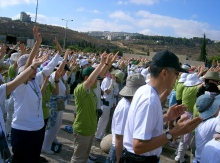 The Korean church praying for Israel and  Palestine (Peace March 2005)