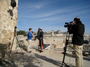 Ariel interviews Israelis on the street, sharing the Gospel with them and making videos out of the interviews.