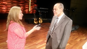 Cecilia Yepez interviewing Dr. Miguel Nuñez at IBI