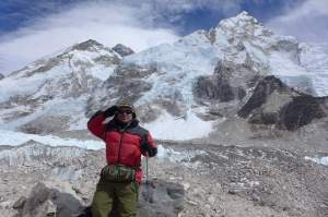 Mt. Everest view from base camp (courtesy of Amosji Attaché Gorkhas)